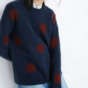 Madewell Dot Graystone Cozy Pullover Sweater